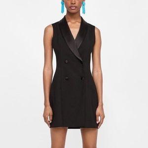 Zara black tuxedo blazer dress, Size Small
